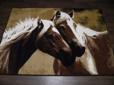 Modern Approx 6x4 120x170cm Woven Backed Horses Rug Sale Top Quality Beige/Black